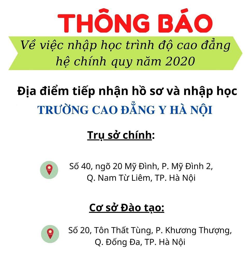 thong bao nhap hoc 2020
